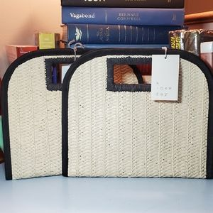 NWT A New Day Woven Straw Handbags • Set of Two